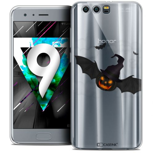 "Carcasa Crystal Gel Extra Fina Huawei Honor 9 (5.15"") Halloween Chauve Citrouille"