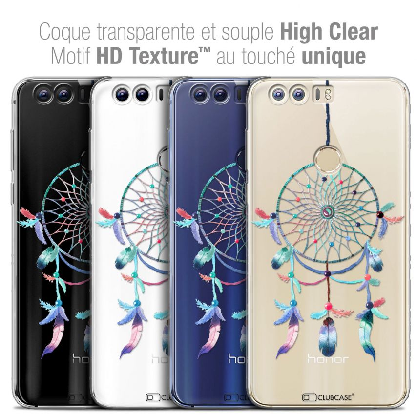 "Carcasa Crystal Gel Extra Fina Huawei Honor 8 (5.2"") Dreamy Attrape Rêves Rainbow"