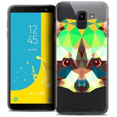 "Carcasa Crystal Gel Extra Fina Samsung Galaxy J6 2018 J600 (5.6"") Polygon Animals Raton Laveur"