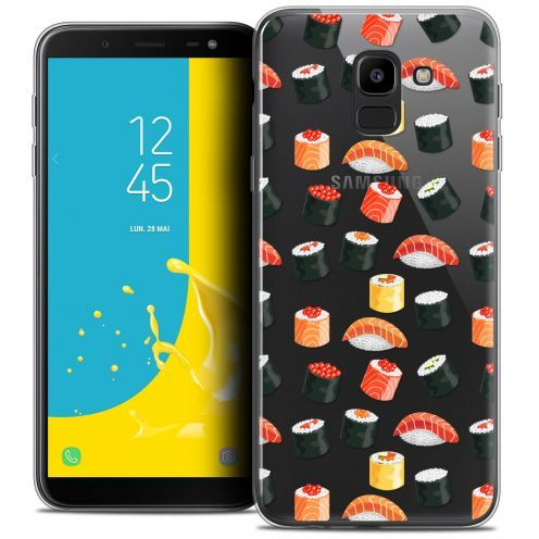 """Carcasa Crystal Gel Extra Fina Samsung Galaxy J6 2018 J600 (5.6"""") Foodie Sushi"""