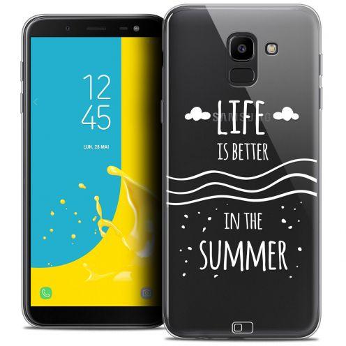 """Carcasa Crystal Gel Extra Fina Samsung Galaxy J6 2018 J600 (5.6"""") Summer Life's Better"""