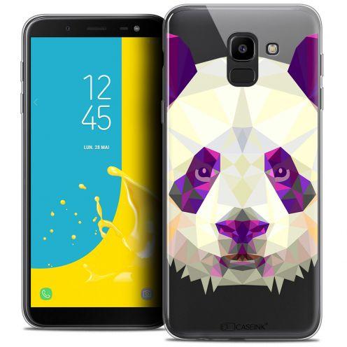 "Carcasa Crystal Gel Extra Fina Samsung Galaxy J6 2018 J600 (5.6"") Polygon Animals Panda"