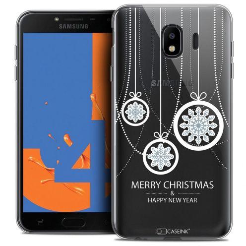 "Carcasa Crystal Gel Extra Fina Samsung Galaxy J4 2018 J400 (5.5"") Noël 2017 Christmas Balls"
