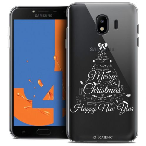"Carcasa Crystal Gel Extra Fina Samsung Galaxy J4 2018 J400 (5.5"") Noël 2017 Calligraphie"