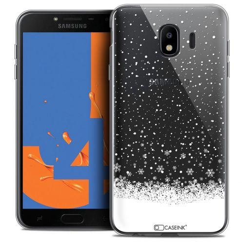 "Carcasa Crystal Gel Extra Fina Samsung Galaxy J4 2018 J400 (5.5"") Noël 2017 Flocons de Neige"