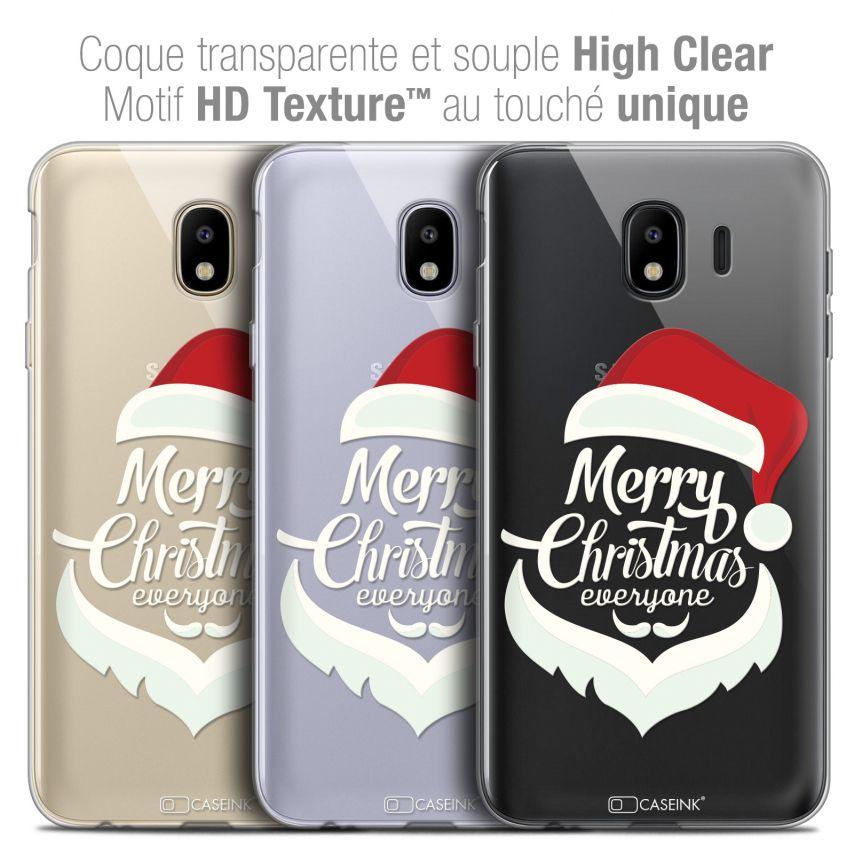 "Carcasa Crystal Gel Extra Fina Samsung Galaxy J4 2018 J400 (5.5"") Noël 2017 Merry Everyone"