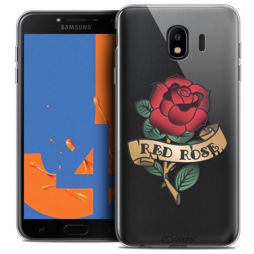 "Carcasa Crystal Gel Extra Fina Samsung Galaxy J4 2018 J400 (5.5"") Tatoo Lover Red Rose"