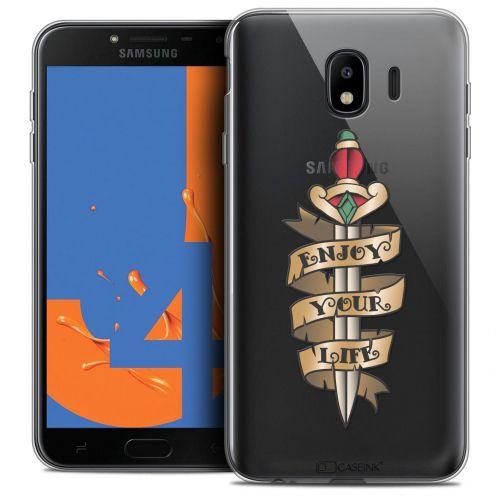 "Carcasa Crystal Gel Extra Fina Samsung Galaxy J4 2018 J400 (5.5"") Tatoo Lover Enjoy Life"