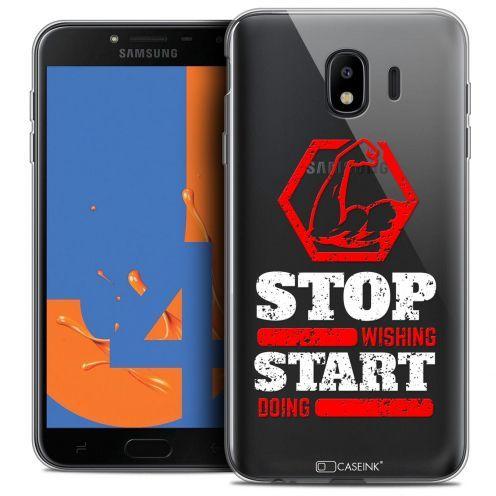 "Carcasa Crystal Gel Extra Fina Samsung Galaxy J4 2018 J400 (5.5"") Quote Start Doing"