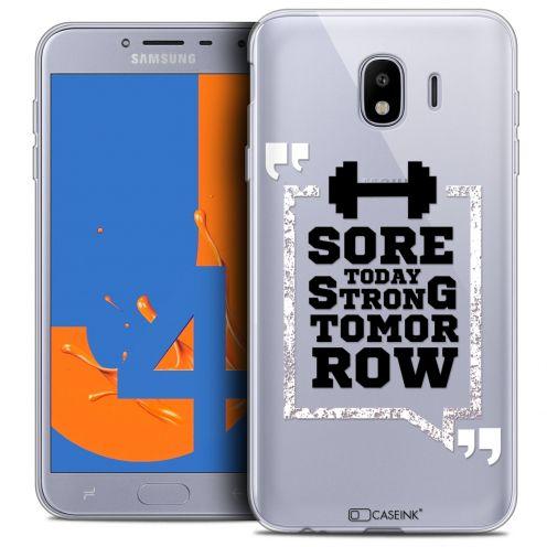 "Carcasa Crystal Gel Extra Fina Samsung Galaxy J4 2018 J400 (5.5"") Quote Strong Tomorrow"