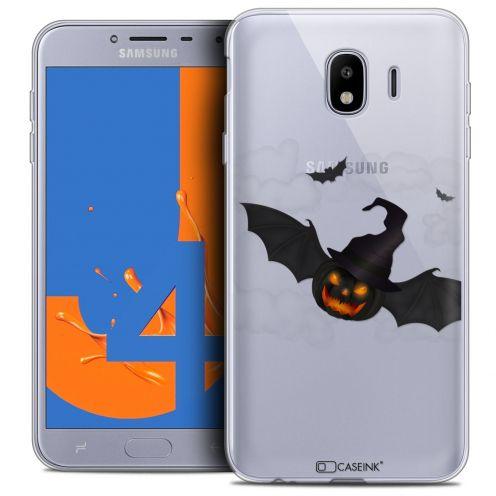 "Carcasa Crystal Gel Extra Fina Samsung Galaxy J4 2018 J400 (5.5"") Halloween Chauve Citrouille"