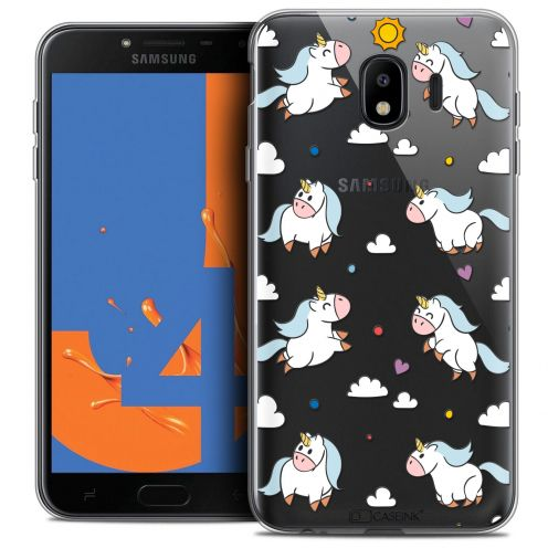 "Carcasa Crystal Gel Extra Fina Samsung Galaxy J4 2018 J400 (5.5"") Fantasia Licorne In the Sky"