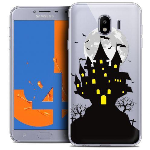"Carcasa Crystal Gel Extra Fina Samsung Galaxy J4 2018 J400 (5.5"") Halloween Castle Scream"