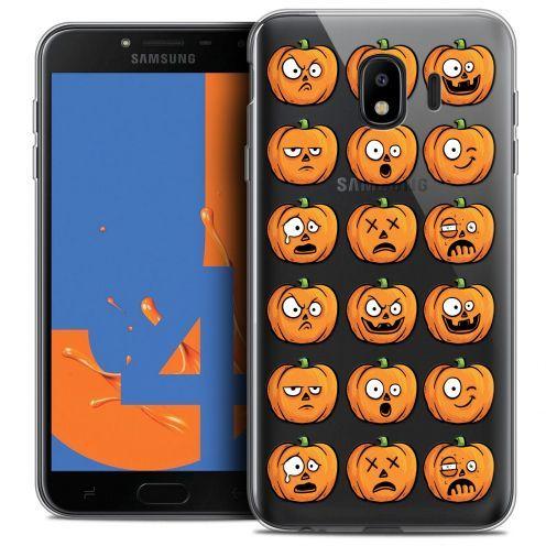 "Carcasa Crystal Gel Extra Fina Samsung Galaxy J4 2018 J400 (5.5"") Halloween Cartoon Citrouille"