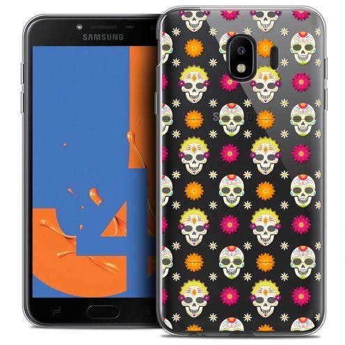 """Carcasa Crystal Gel Extra Fina Samsung Galaxy J4 2018 J400 (5.5"""") Halloween Skull Halloween"""