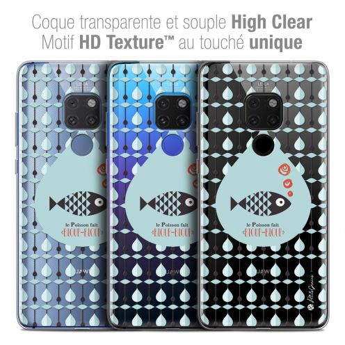 "Carcasa Crystal Gel Extra Fina Xiaomi Mate 20 (6.5"") Petits Grains® Le Poisson"