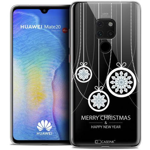 "Carcasa Crystal Gel Extra Fina Huawei Mate 20 (6.5"") Noël 2017 Christmas Balls"