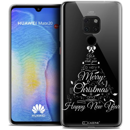 "Carcasa Crystal Gel Extra Fina Huawei Mate 20 (6.5"") Noël 2017 Calligraphie"