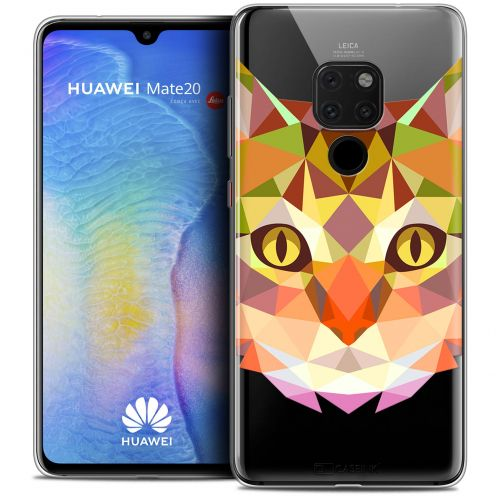 "Carcasa Crystal Gel Extra Fina Xiaomi Mate 20 (6.5"") Polygon Animals Gato"