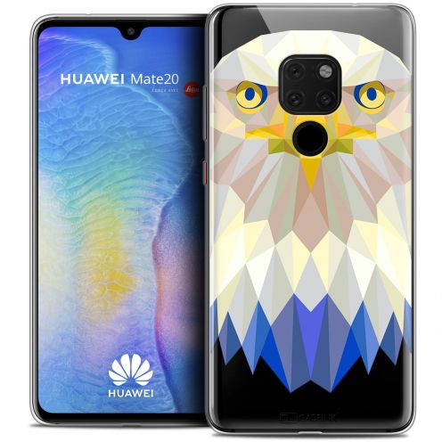 "Carcasa Crystal Gel Extra Fina Huawei Mate 20 (6.5"") Polygon Animals Águila"