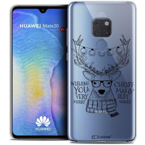 "Carcasa Crystal Gel Extra Fina Huawei Mate 20 (6.5"") Noël 2017 Cerf Hipster"