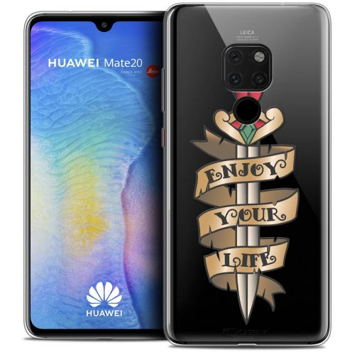 "Carcasa Crystal Gel Extra Fina Xiaomi Mate 20 (6.5"") Tatoo Lover Enjoy Life"