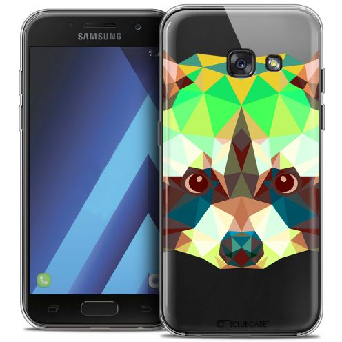 "Carcasa Crystal Gel Extra Fina Samsung Galaxy A7 2017 A700 (5.7"") Polygon Animals Raton Laveur"