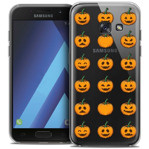 "Carcasa Crystal Gel Extra Fina Samsung Galaxy A7 2017 A700 (5.7"") Halloween Smiley Citrouille"