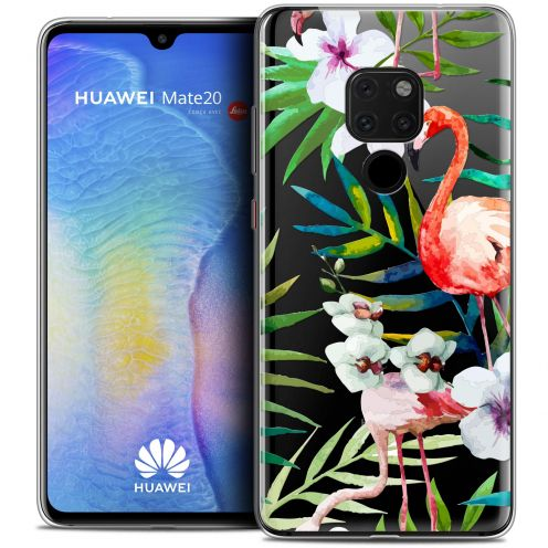"Carcasa Crystal Gel Extra Fina Xiaomi Mate 20 (6.5"") Watercolor Tropical Flamingo"