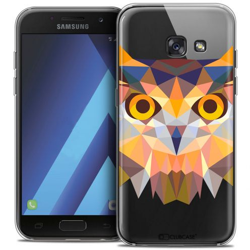 "Carcasa Crystal Gel Extra Fina Samsung Galaxy A7 2017 A700 (5.7"") Polygon Animals Búho"