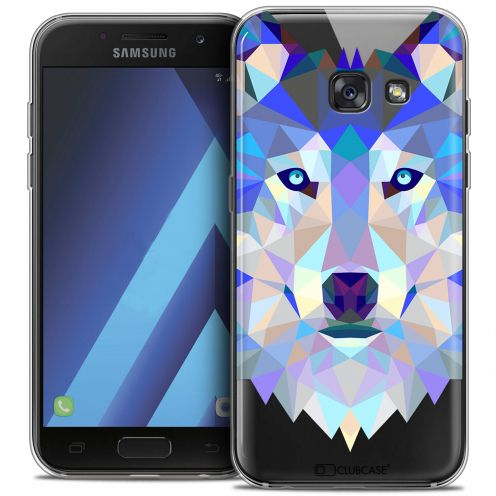 "Carcasa Crystal Gel Extra Fina Samsung Galaxy A7 2017 A700 (5.7"") Polygon Animals Lobo"