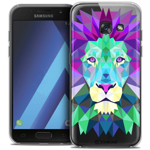 "Carcasa Crystal Gel Extra Fina Samsung Galaxy A7 2017 A700 (5.7"") Polygon Animals León"