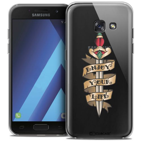 "Carcasa Crystal Gel Extra Fina Samsung Galaxy A7 2017 A700 (5.7"") Tatoo Lover Enjoy Life"
