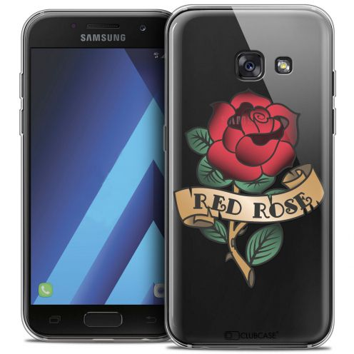 "Carcasa Crystal Gel Extra Fina Samsung Galaxy A7 2017 A700 (5.7"") Tatoo Lover Red Rose"