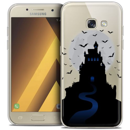 "Carcasa Crystal Gel Extra Fina Samsung Galaxy A7 2017 A700 (5.7"") Halloween Castle Nightmare"