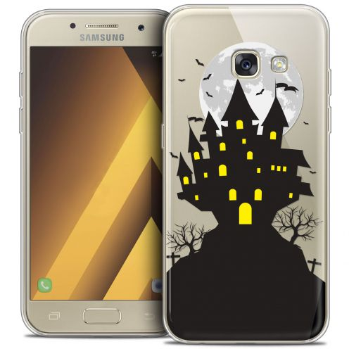 "Carcasa Crystal Gel Extra Fina Samsung Galaxy A7 2017 A700 (5.7"") Halloween Castle Scream"