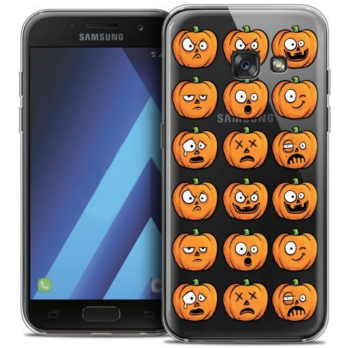 "Carcasa Crystal Gel Extra Fina Samsung Galaxy A7 2017 A700 (5.7"") Halloween Cartoon Citrouille"