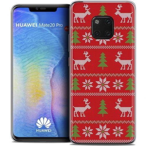 "Carcasa Crystal Gel Extra Fina Huawei Mate 20 PRO (6.4"") Noël 2017 Couture Rouge"