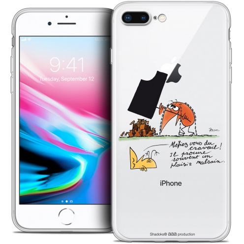 "Carcasa Crystal Gel Extra Fina Apple iPhone 8 Plus (5.5"") Les Shadoks® Le Travail"