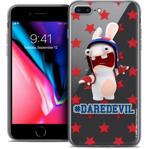 "Carcasa Crystal Gel Apple iPhone 7 Plus (5.5"") Lapins Crétins™ Dare Devil"