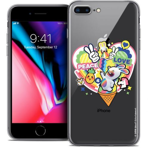 "Carcasa Crystal Gel Apple iPhone 7 Plus (5.5"") Lapins Crétins™ Peace And Love"