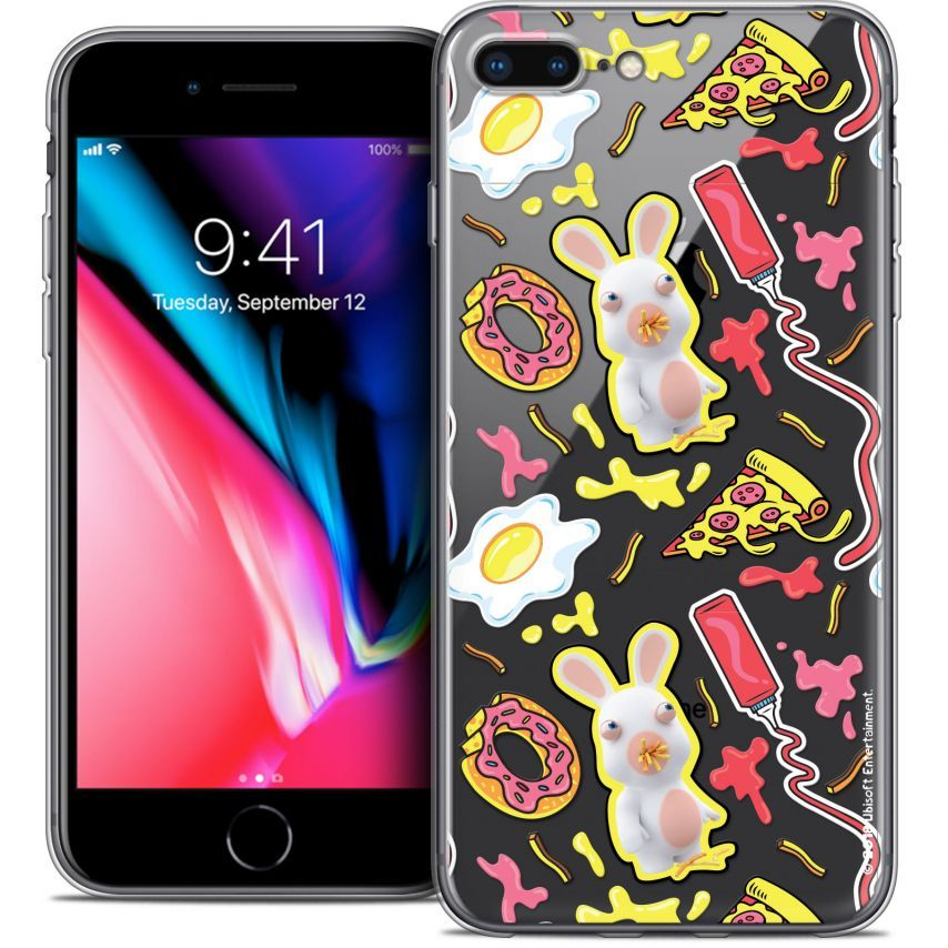 "Carcasa Crystal Gel Apple iPhone 7 Plus (5.5"") Lapins Crétins™ Egg Pattern"
