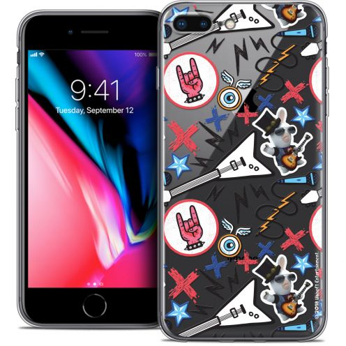 "Carcasa Crystal Gel Apple iPhone 7 Plus (5.5"") Lapins Crétins™ Rock Pattern"