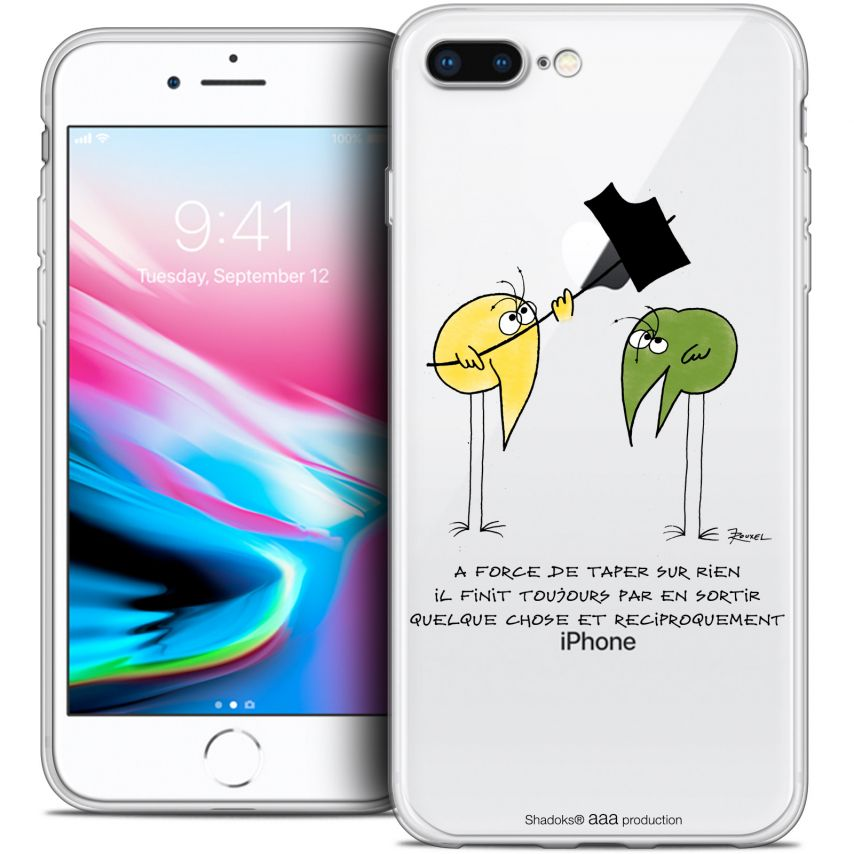 "Carcasa Crystal Gel Extra Fina Apple iPhone 7 Plus (5.5"") Les Shadoks® A Force"