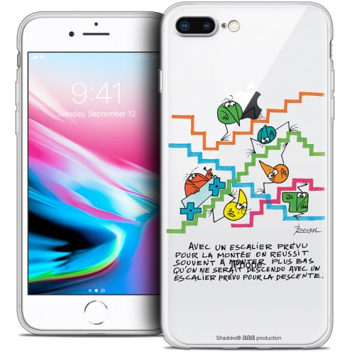 "Carcasa Crystal Gel Extra Fina Apple iPhone 7 Plus (5.5"") Les Shadoks® L'escalier"