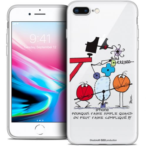 "Carcasa Crystal Gel Extra Fina Apple iPhone 7 Plus (5.5"") Les Shadoks® Pourquoi faire Simple"
