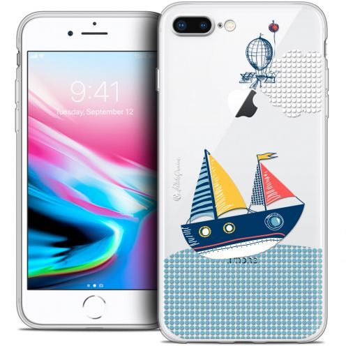 "Carcasa Crystal Gel Extra Fina Apple iPhone 7 Plus (5.5"") Petits Grains® MVE Le Bateau"