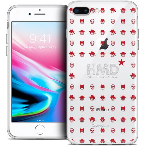 "Carcasa Crystal Gel Extra Fina Apple iPhone 7 Plus (5.5"") Petits Grains® HMD* Hero en Mode Discret"