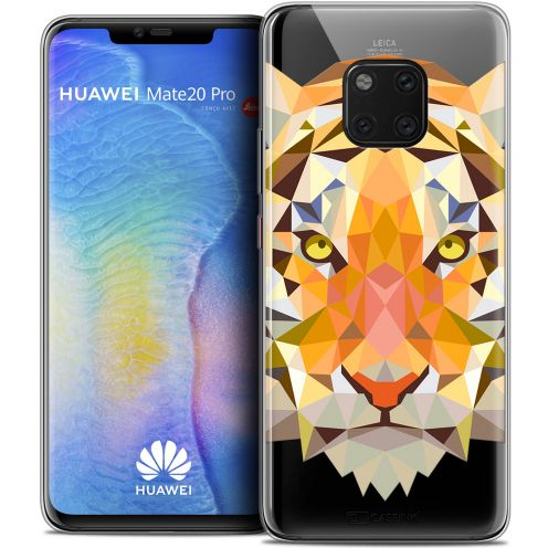"Carcasa Crystal Gel Extra Fina Huawei Mate 20 PRO (6.4"") Polygon Animals Tigre"