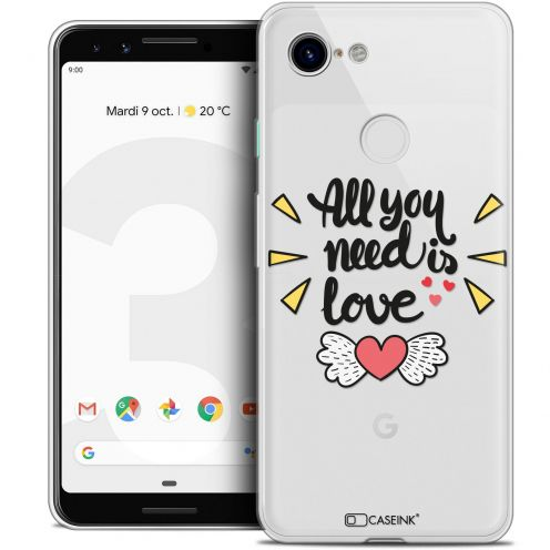 "Carcasa Crystal Gel Extra Fina Google Pixel 3 (5.5"") Love All U Need Is"